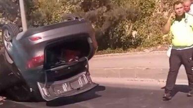 Photo of Şanlıurfa'da otomobil takla attı