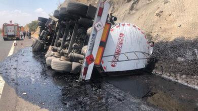 Photo of Şanlıurfa'da Yakıt Tankeri Devrildi