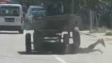Photo of Urfa'da at arabasının feci kazası