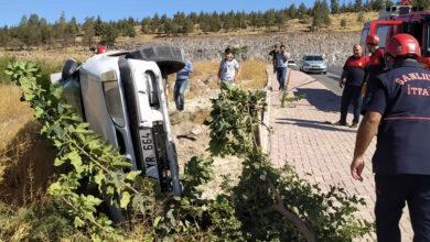 Photo of Şanlıurfa'da Trafik Kazası! Araç Yan Yattı! 1 yaralı