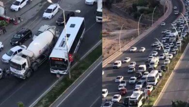 Photo of Mikser arızası Urfa'da trafiği felç etti!