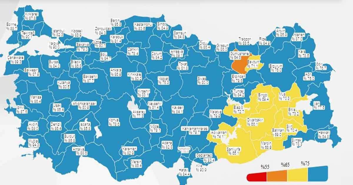 Urfa Haritada Sarı Kotegoriye Geçti!