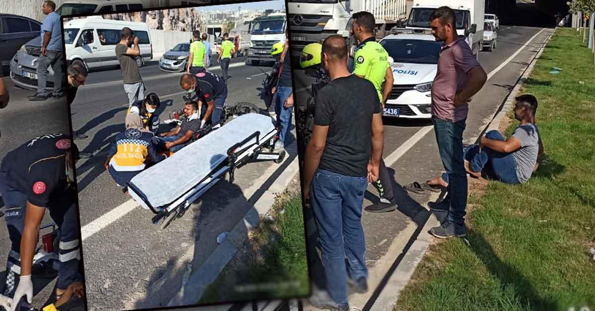 Urfa'da Otomobil motosiklete çarptı: 1 yaralı