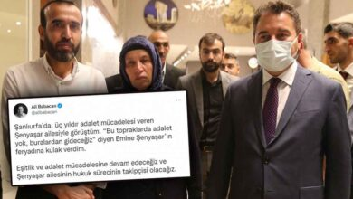 Photo of Babacan'dan Şenyaşar Ailesi Paylaşımı